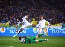 FC Dynamo Kyiv do jogo de futebol contra Shakhtar Donetsk Fotografia de Stock