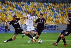 FC Dynamo Kyiv do jogo de futebol contra Zorya Luhansk Imagem de Stock Royalty Free