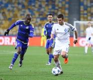 FC Dynamo Kyiv för lek för liga för UEFA-mästare vs Maccabi Tel Aviv arkivfoton