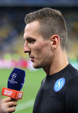 FC Dynamo Kyiv för lek för liga för UEFA-mästare vs Napoli Fotografering för Bildbyråer