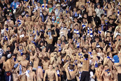 FC Dynamo Kyiv fans support their team Stock Photos