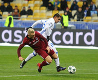 FC Dynamo Kyiv för lek för liga för UEFA-mästare V Besiktas Royaltyfria Foton