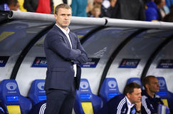 FC Dynamo Kyiv manager Serhiy Rebrov Royalty Free Stock Photography