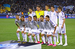 FC Dynamo Kyiv players pose for a group photo Stock Photography