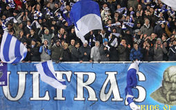 FC Dynamo Kyiv supporters Stock Photo