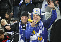 FC Dynamo Kyiv supporters Royalty Free Stock Photography
