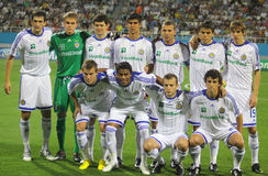 FC Dynamo Kyiv team pose for a group photo Stock Images