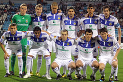 FC Dynamo Kyiv team pose for a group photo Royalty Free Stock Images