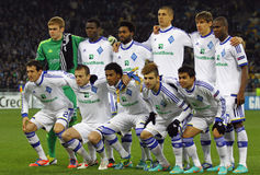 FC Dynamo Kyiv team pose for a group photo Royalty Free Stock Photo
