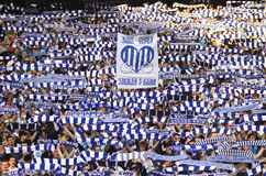 FC Dynamo Kyiv team supporters show their support Stock Photo