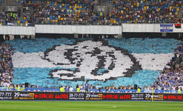 FC Dynamo Kyiv team supporters show their support Royalty Free Stock Photo