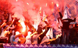 FC Dynamo Kyiv ultra supporters Royalty Free Stock Images