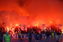 FC Dynamo Kyiv ultra supporters Royalty Free Stock Image