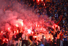 FC Dynamo Kyiv ultra supporters Royalty Free Stock Photography