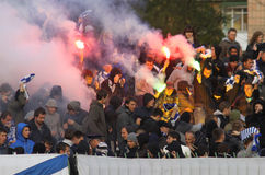FC Dynamo Kyiv ultras Stock Images