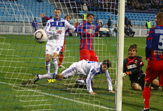 FC dynamo Kyiv versus FC Sebastopol Stock Foto