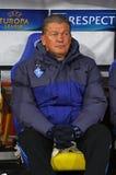FC Dynamo Kyivchef Oleh Blokhin Royaltyfri Fotografi