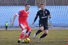 FC Illychivets contro FC Zaria Premier League ucraina 2014/2015 Immagine Stock
