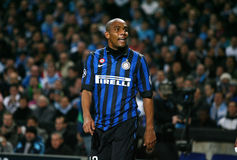 FC Internazionale Milano's Maicon. During the Champions League soccer match OM vs Internazionale Milano FC. OM won 1 - 0. At the Velodrome Stadium in Marseille Stock Image