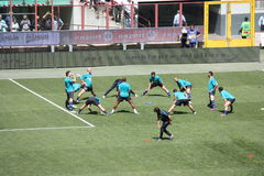FC Internazionale Milano Warming Up #2. FC Internazionale Milano warming up Royalty Free Stock Photo