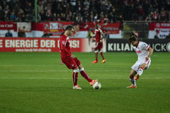 1FC Kaiserslautern en 1FC Koln Stock Foto's