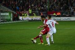 1FC Kaiserslautern en 1FC Koln Royalty-vrije Stock Fotografie