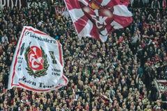1 FC Kaiserslautern och 1FC Koln Royaltyfria Foton