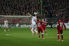 1FC Kaiserslautern och 1FC Koln Arkivbilder