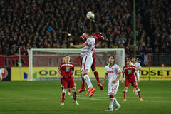 1FC Kaiserslautern und 1FC Koln Stockfoto