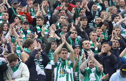 FC Karpaty Lviv team supporters Stock Photo