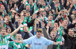 FC Karpaty Lviv team supporters Royalty Free Stock Image