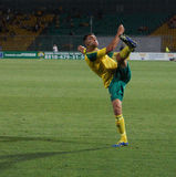 FC kuban defender Igor Armash hits the ball Stock Photo