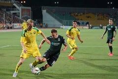 Fc kuban midfielder vladislav ignatiev in a duel with a defender Sergei Petrov Royalty Free Stock Photo