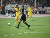 Fc kuban midfielder Vladislav Ignatiev runs to goal Royalty Free Stock Images