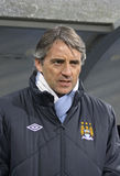 FC Manchester City manager Roberto Mancini Royalty Free Stock Images