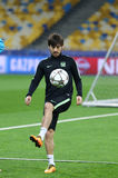 FC Manchester City training session at NSC Olimpiyskyi stadium Stock Photos