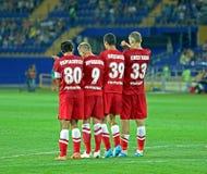 FC Metalist与FC Illichivets足球比赛 免版税库存照片