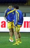 FC Metalist против футбольного матча FC Obolon Kyiv Стоковая Фотография RF