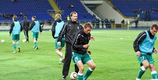 FC Metalist против футбольного матча FC Obolon Kyiv Стоковое Фото