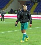FC Metalist против футбольного матча FC Obolon Kyiv Стоковое Изображение