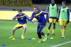 FC Metalist против футбольного матча FC Obolon Kyiv Стоковые Фото
