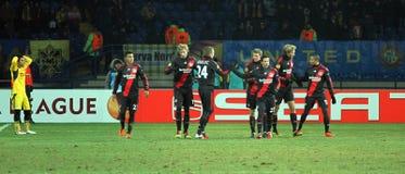 FC Metalist Bayer Kharkiv - 04 Leverkusen Zdjęcia Stock