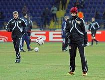 FC Metalist Bayer Kharkiv - 04 Leverkusen Obrazy Royalty Free