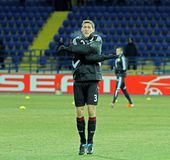 FC Metalist Bayer Kharkiv - 04 Leverkusen Fotografia Stock