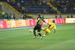 FC Metalist contre le match de football de PFC Oleksandria Photo stock