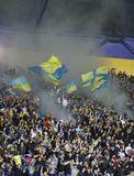FC Metalist fans cheer their team Stock Photography