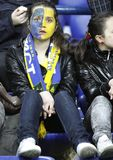 FC Metalist fans cheer their team Royalty Free Stock Image