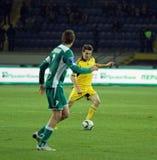 FC Metalist gegen FC Obolon Kyiv Fußbalabgleichung Lizenzfreies Stockfoto