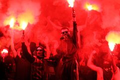 FC Metalist Kharkiv风扇 库存图片