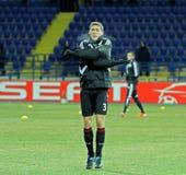 FC Metalist Kharkiv -贝尔04莱沃库森 图库摄影